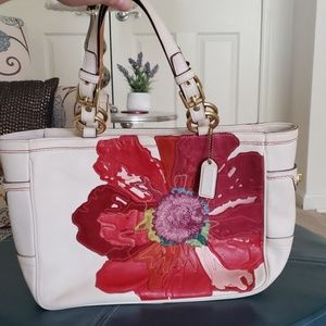 Coach Limited Edition Poppies for Peace Poppy Bag